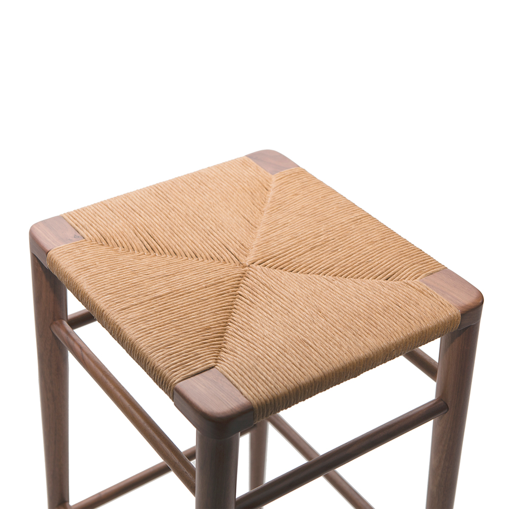 Woven Rush Stool Mel Smilow Suite Ny