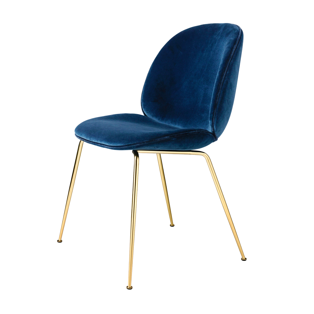 Beetle chair gamfratesi gubi suite ny - Chaise velours capitonnee ...