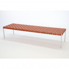 Woven Leather Bench