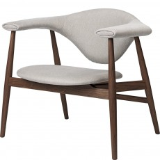 Masculo Lounge Chair - Wood Base