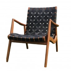 WLC 22 Woven Leather Armchair