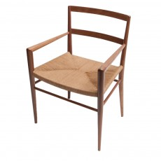 Woven Rush Dining Armchair