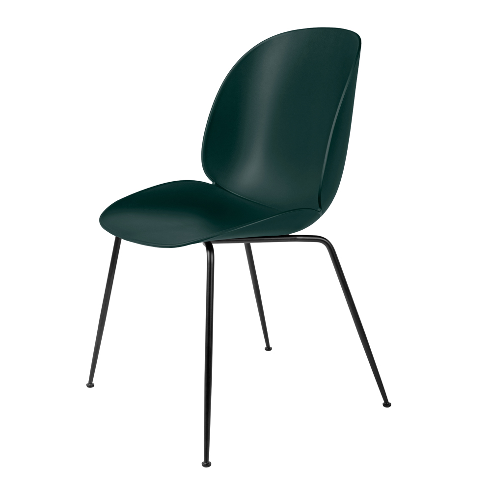 plastic beetle chair with metal base