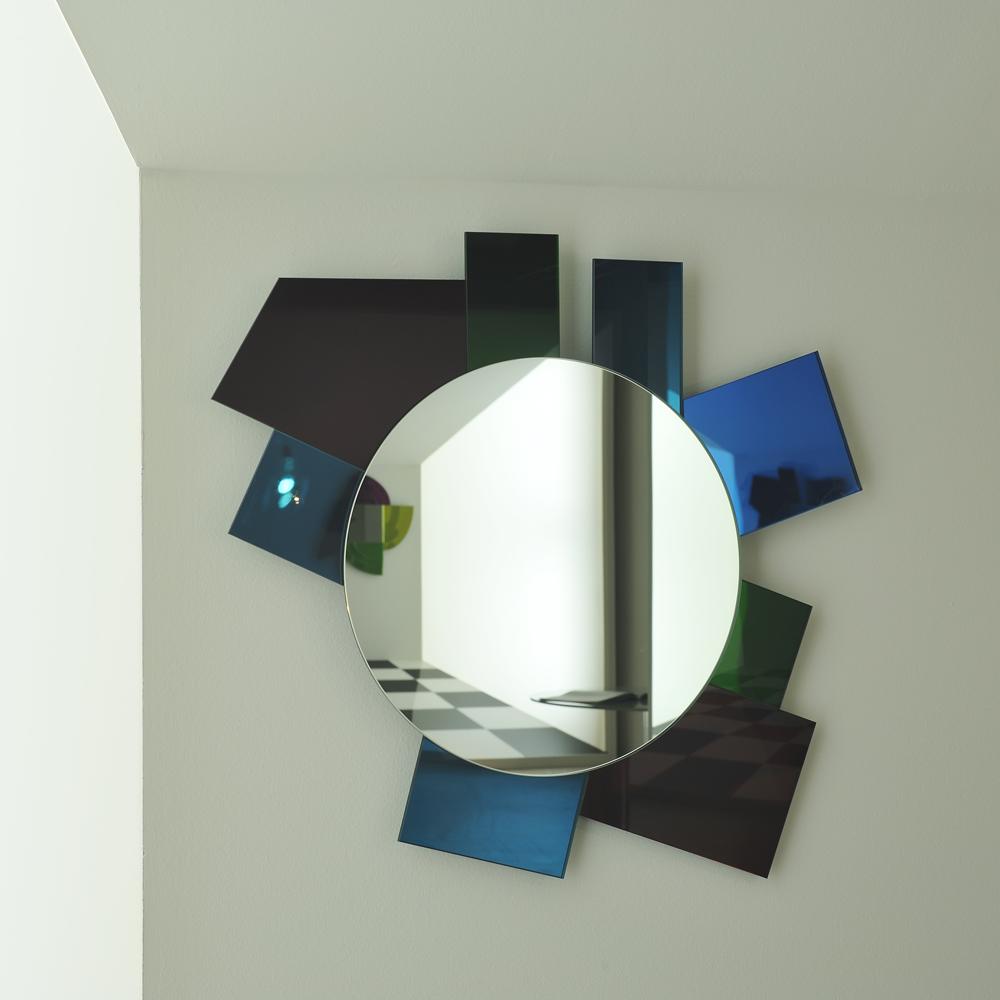 Gli Specchi di Dioniso mirrors designed by Ettore Sottsass for Glas Italia