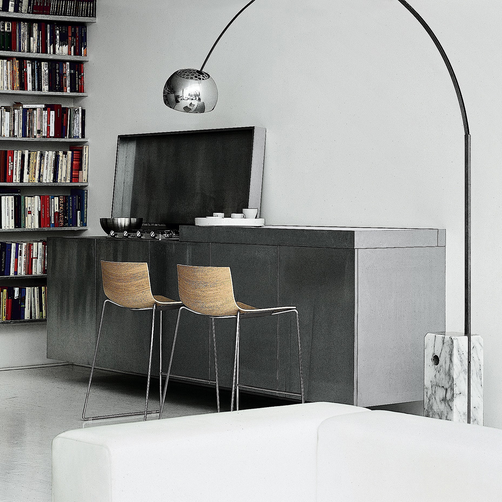 Catifa 46 Low Back Stool designed by Leivore, Altherr, Molina for Arper