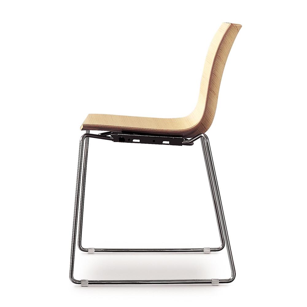 CAtifa 46 Sled Chair Arper wood