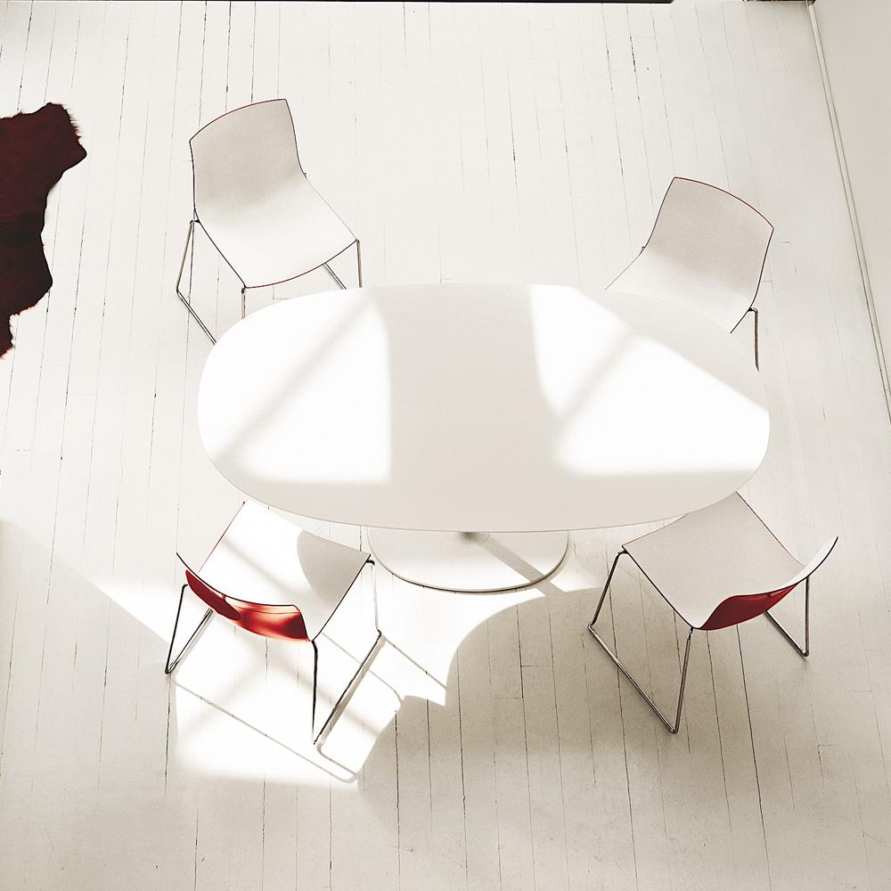 CAtifa 46 Sled Chair Arper red white