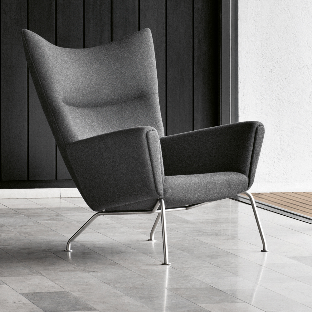 Ch445 wing chair hans j wegner carl hansen and son suite ny - Wegner wing chair replica ...