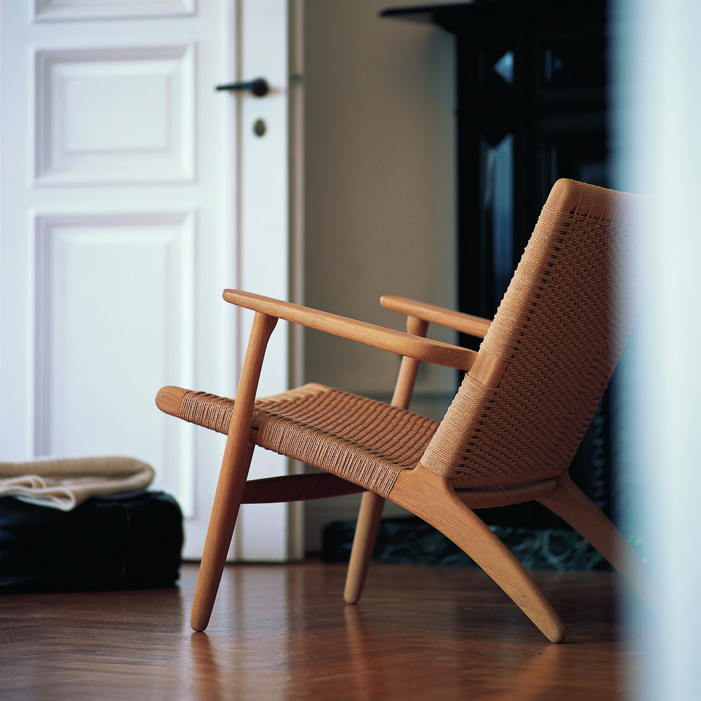 ch25 easy chair hans j wegner carl hansen and son suite ny