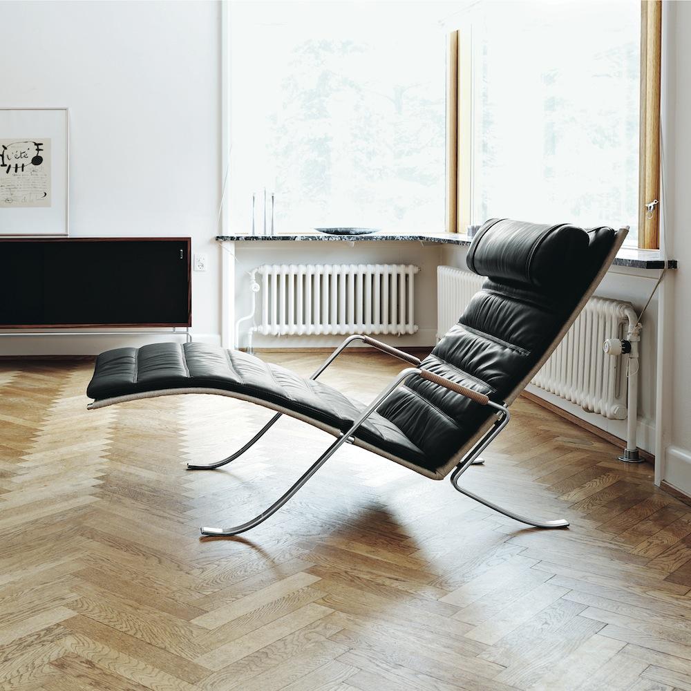 Grasshopper Chair, Fabricius Kastholm, Lange Productions, black leather lounge, grasshopper lounge