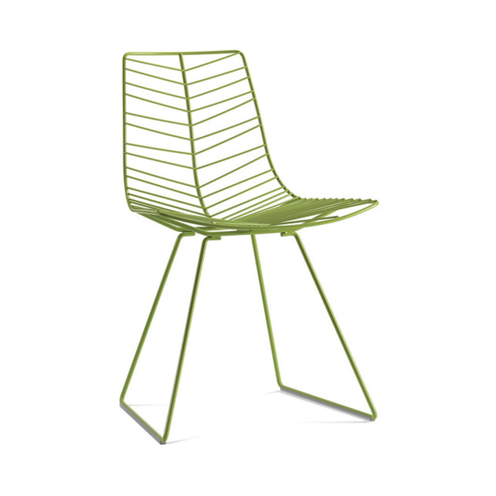 Leaf Chair in stackable or sled base version designed by Lievore, Altherr, Molina for Arper, Italy