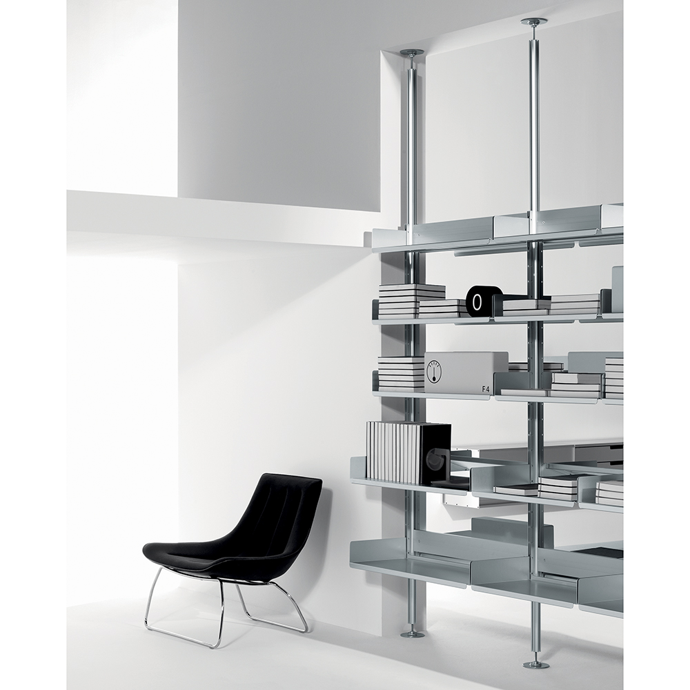 606 Universal Shelving System designed by Dieter Rams for De Padova