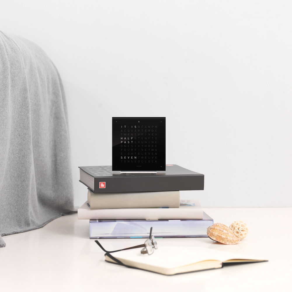 QLOCKTWO Touch alarm clock designed by Biegert & Funk