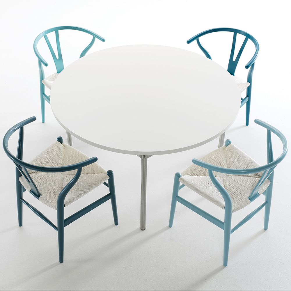ch24 wishbone chair blue series hans j wegner suite ny. Black Bedroom Furniture Sets. Home Design Ideas
