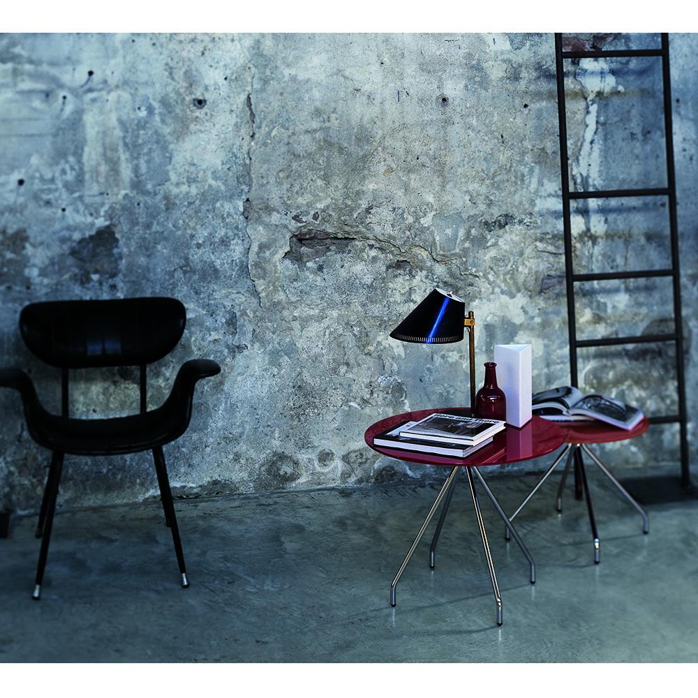 Brighella occasional table designed by Lorenzo Arosio for Glas Italia.