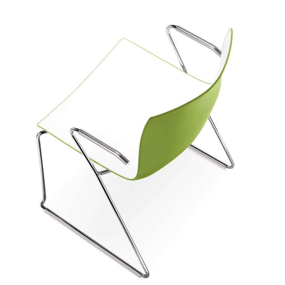 CAtifa 46 Sled Chair Arper green arms