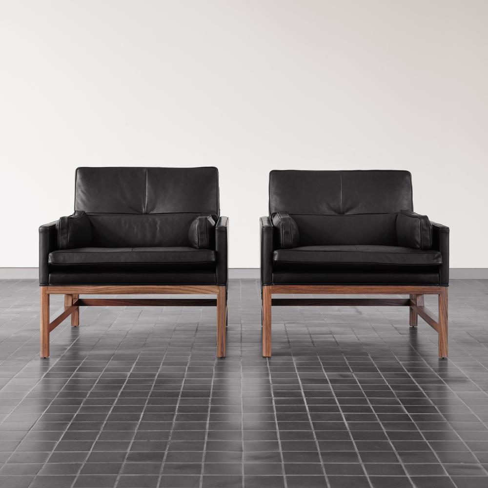 CB-50 Lounge Armchair Craig Bassam Scott Fellows BassamFellows modern leather club chair