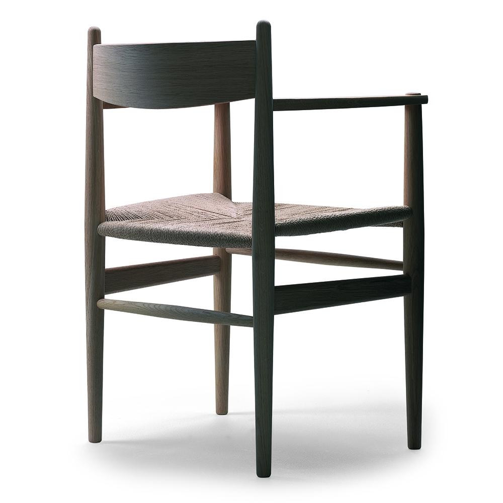 CH37 Dining Armchair Hans J. Wegner Carl Hansen and Son woven dining arm chair