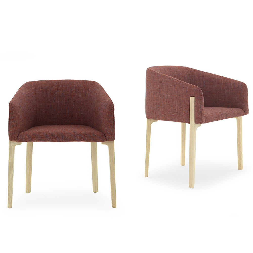 Chesto chair Patrick Norguet DePadova upholstered modern armchair