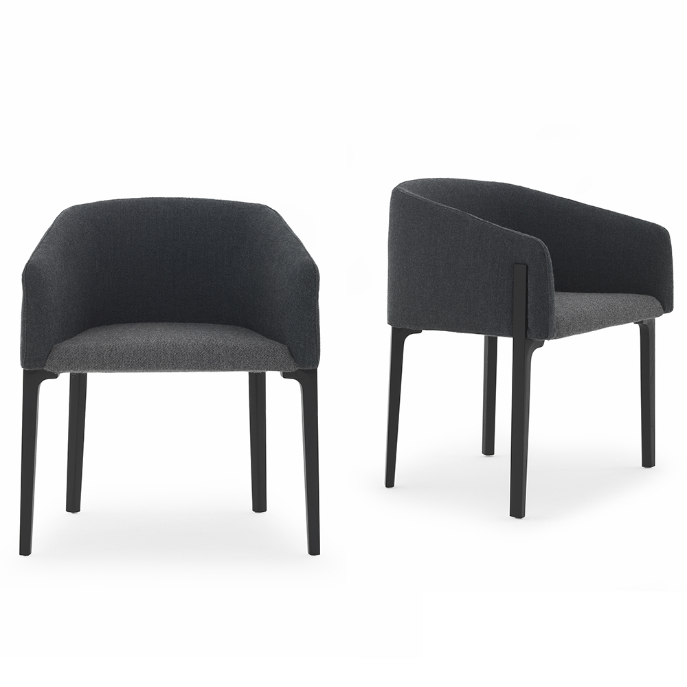 Chesto chair Patrick Norguet DePadova upholstered black modern armchair