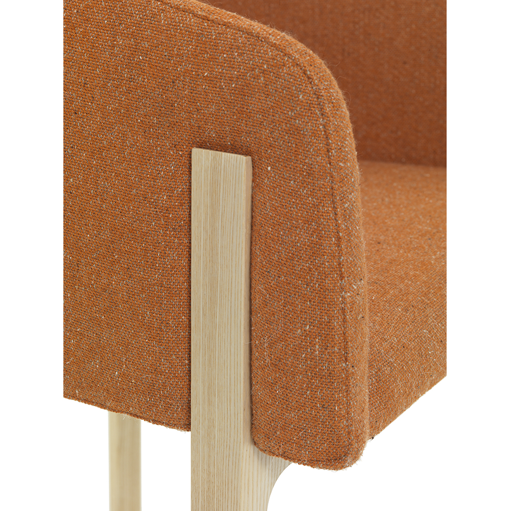 Chesto chair Patrick Norguet DePadova upholstered modern armchair