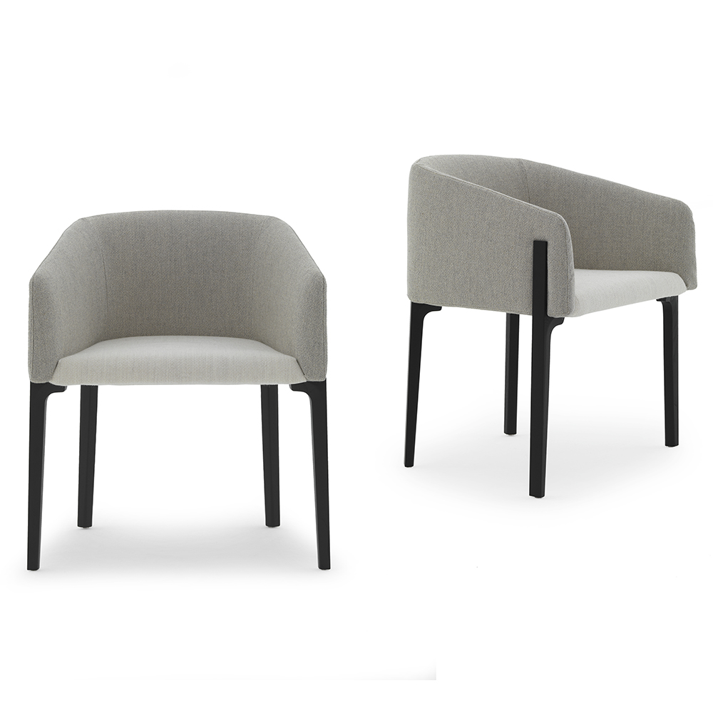 Chesto chair Patrick Norguet DePadova upholstered modern armchair grey