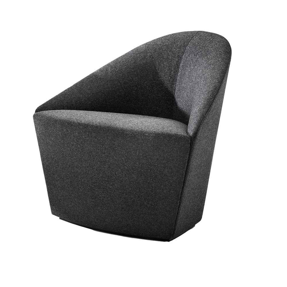 Colina S Lievore altherr Molina Arper upholstered modern charcoal dining chair