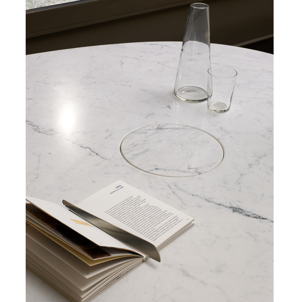 Eros Table modern marble table by Angelo Mangiarotti for AgapeCasa