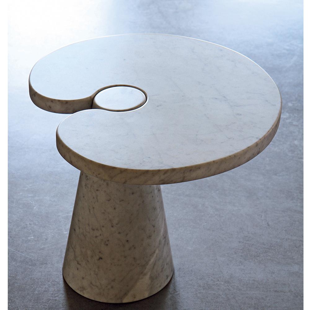 Eros Side Table Angelo Mangiarotti AgapeCasa small marble table
