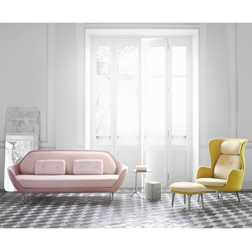 Favn pink sofa Jaime Hayon Fritz Hansen grey