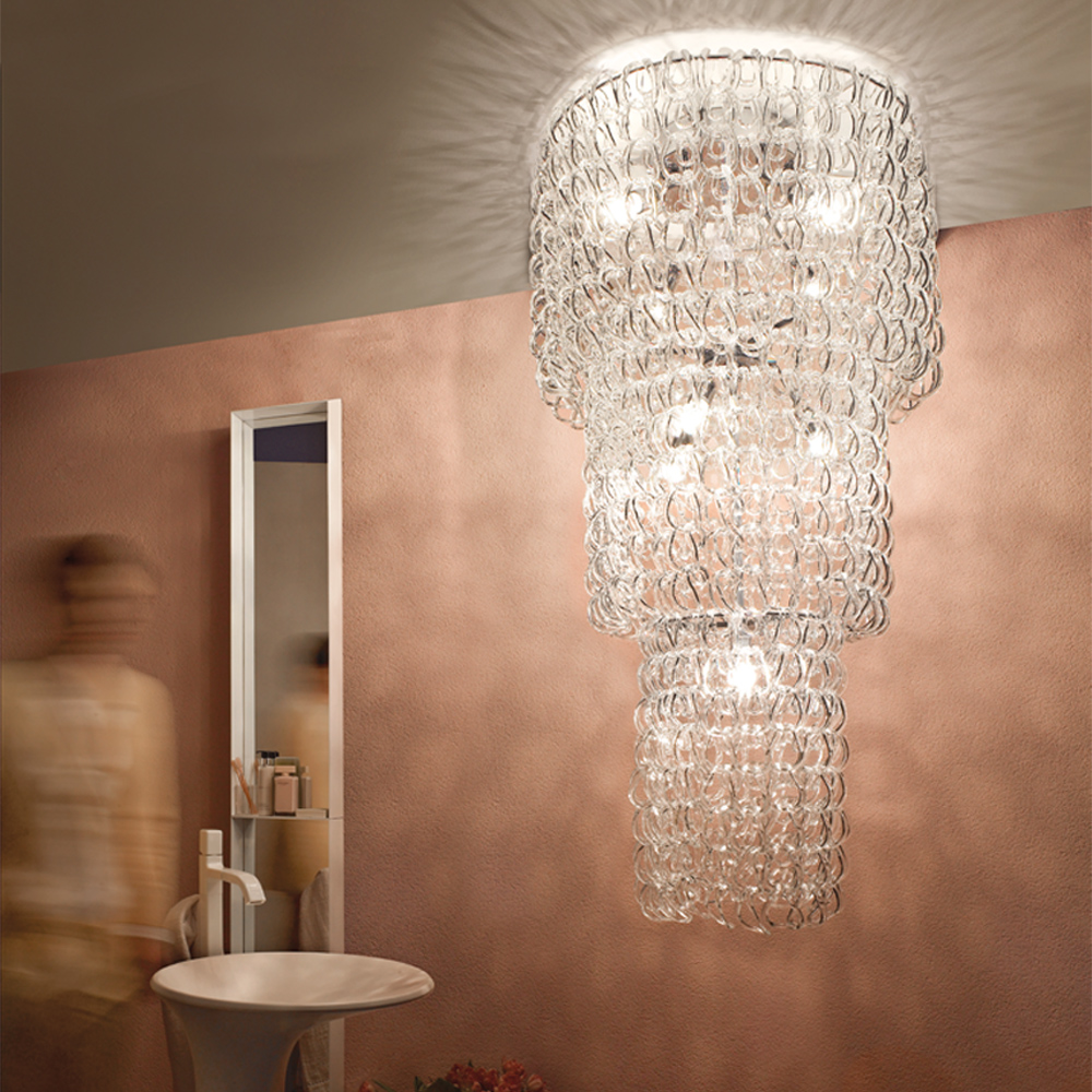 Giogali ceiling light designed by Angelo Mangiarotti for Vistosi.