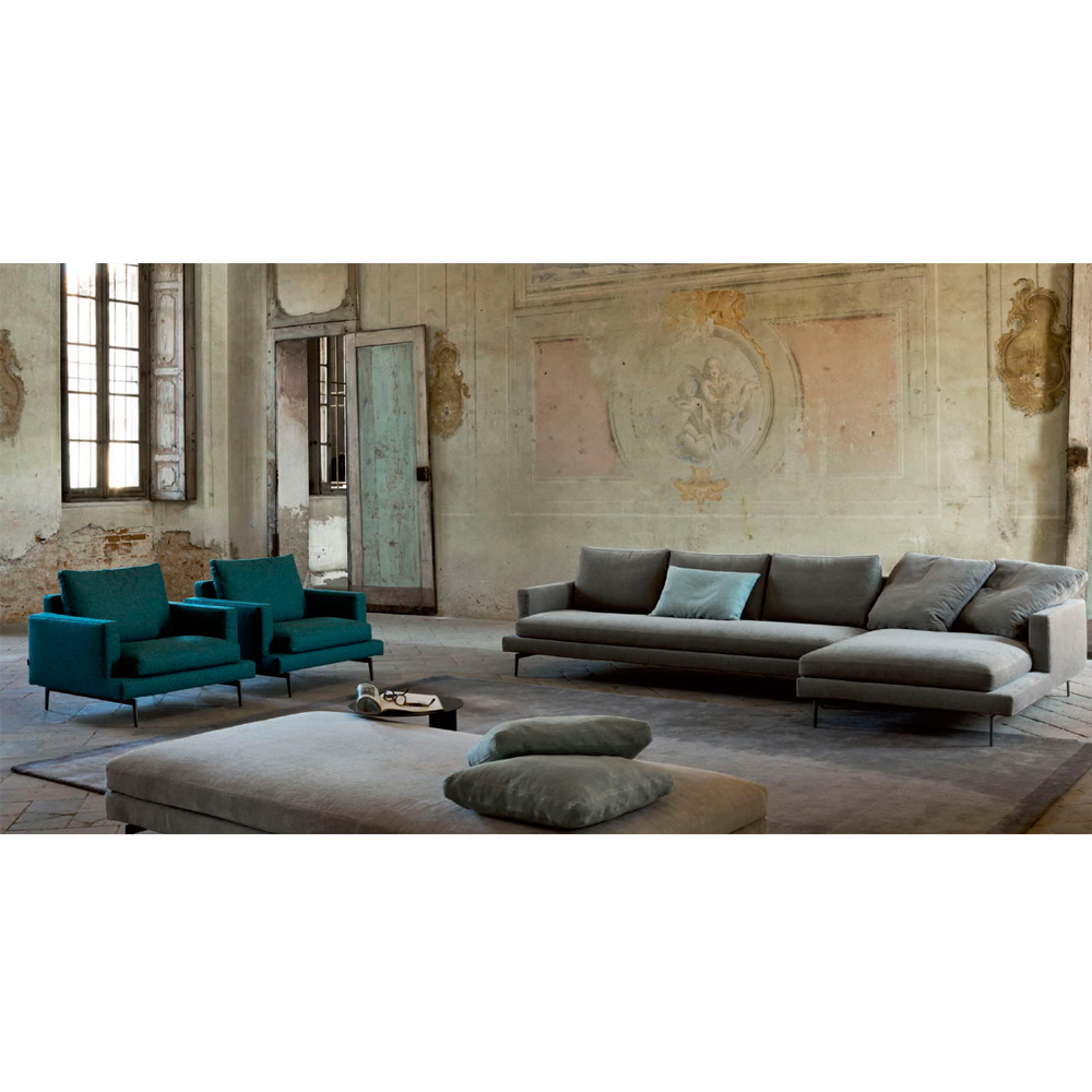 Larsen Daybed Verzelloni modern upholstered chaise lounge