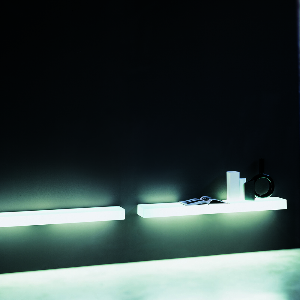 Light Light Shelf designed by Nanda Vigo for Glas Italia