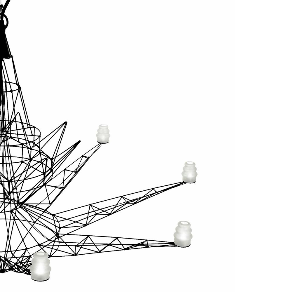 Lightweight suspension light designed by Tom Dixon for Foscarini
