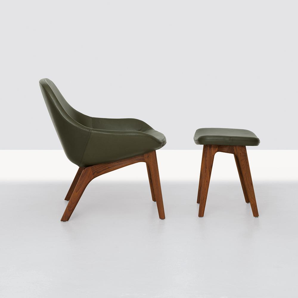 Morph Lounge Formstelle Zeitraum upholstered armchair modern green