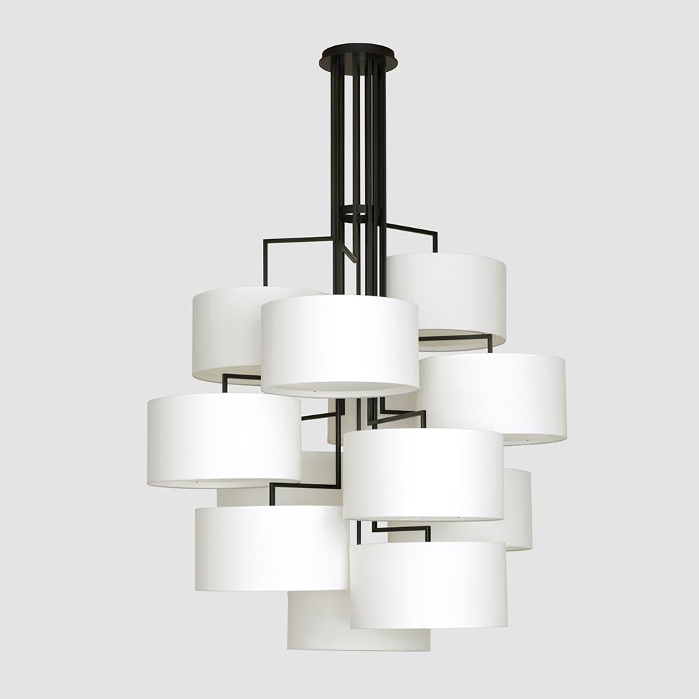 Noon 12 suspension light designed by El Schmid for Zeitraum.