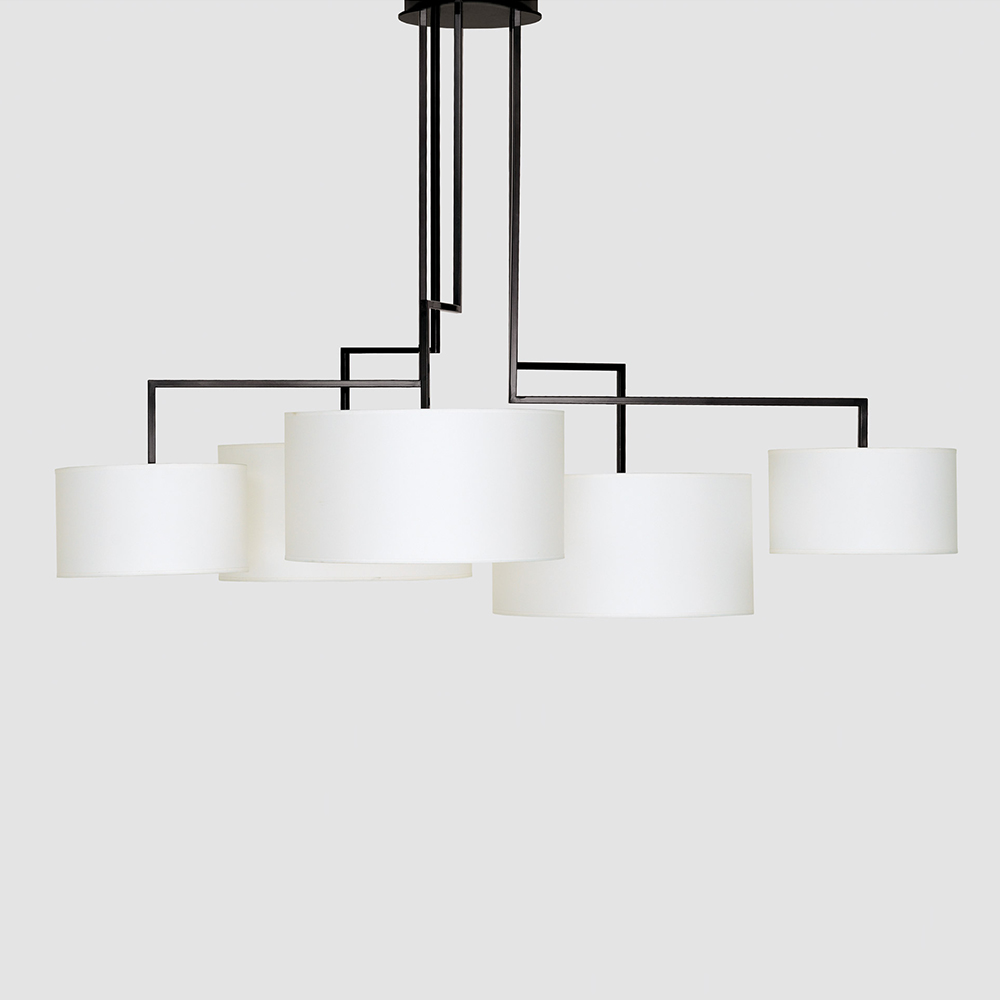 Noon 5 suspension light designed by El Schmid for Zeitraum.