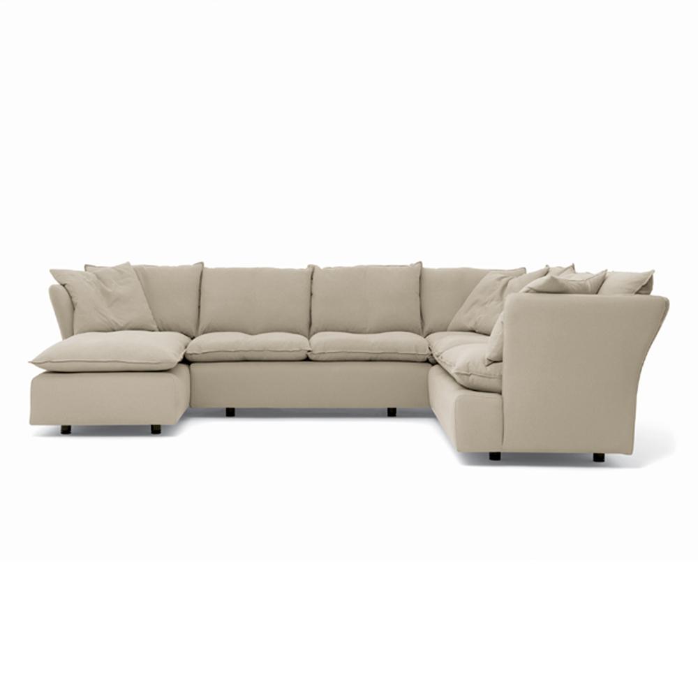 Pillow sofa collection designed by Vico Magistretti for De Padova.