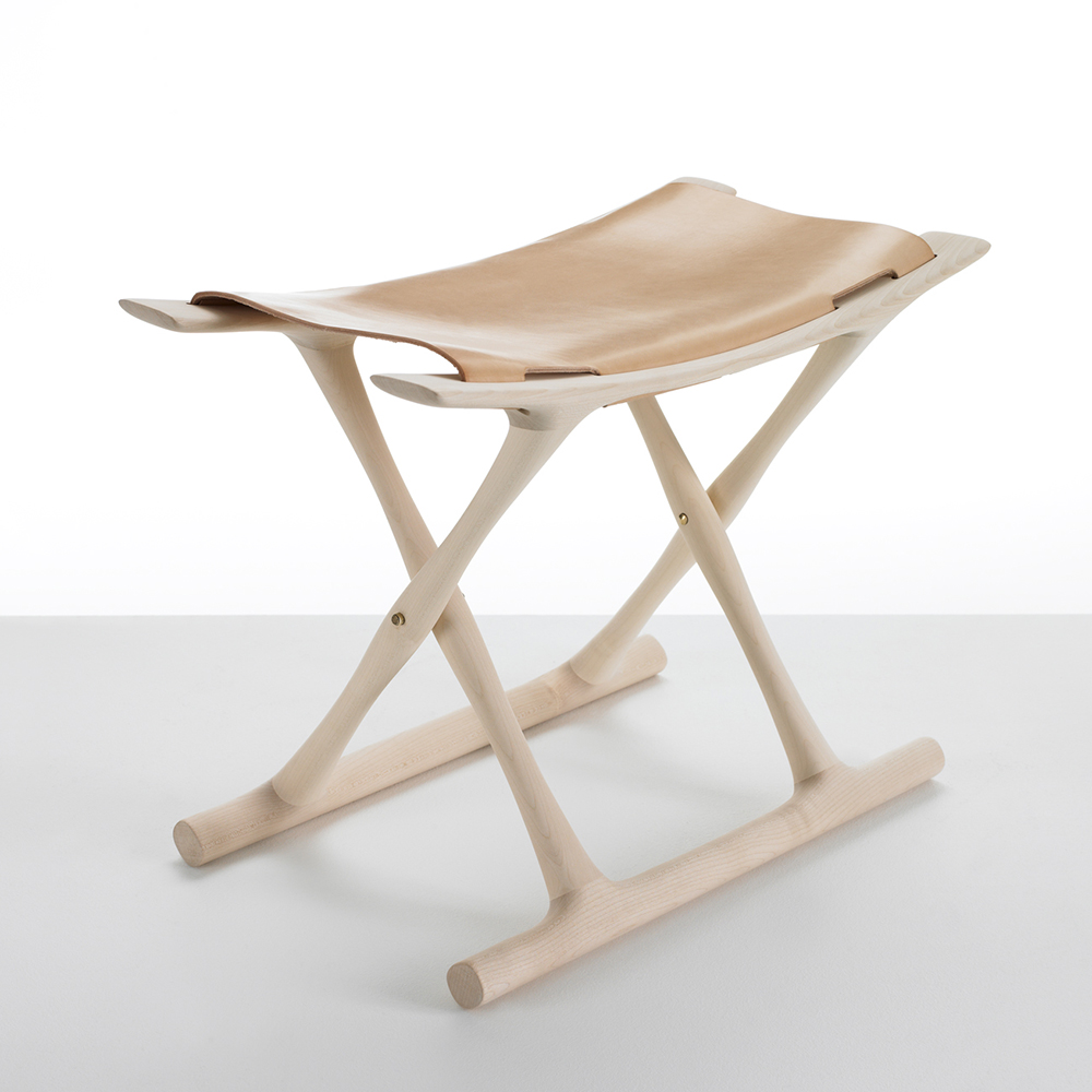 OW2000 Egyptian Stool designed by Ole Wanscher, manufactured by Carl Hansen & Son