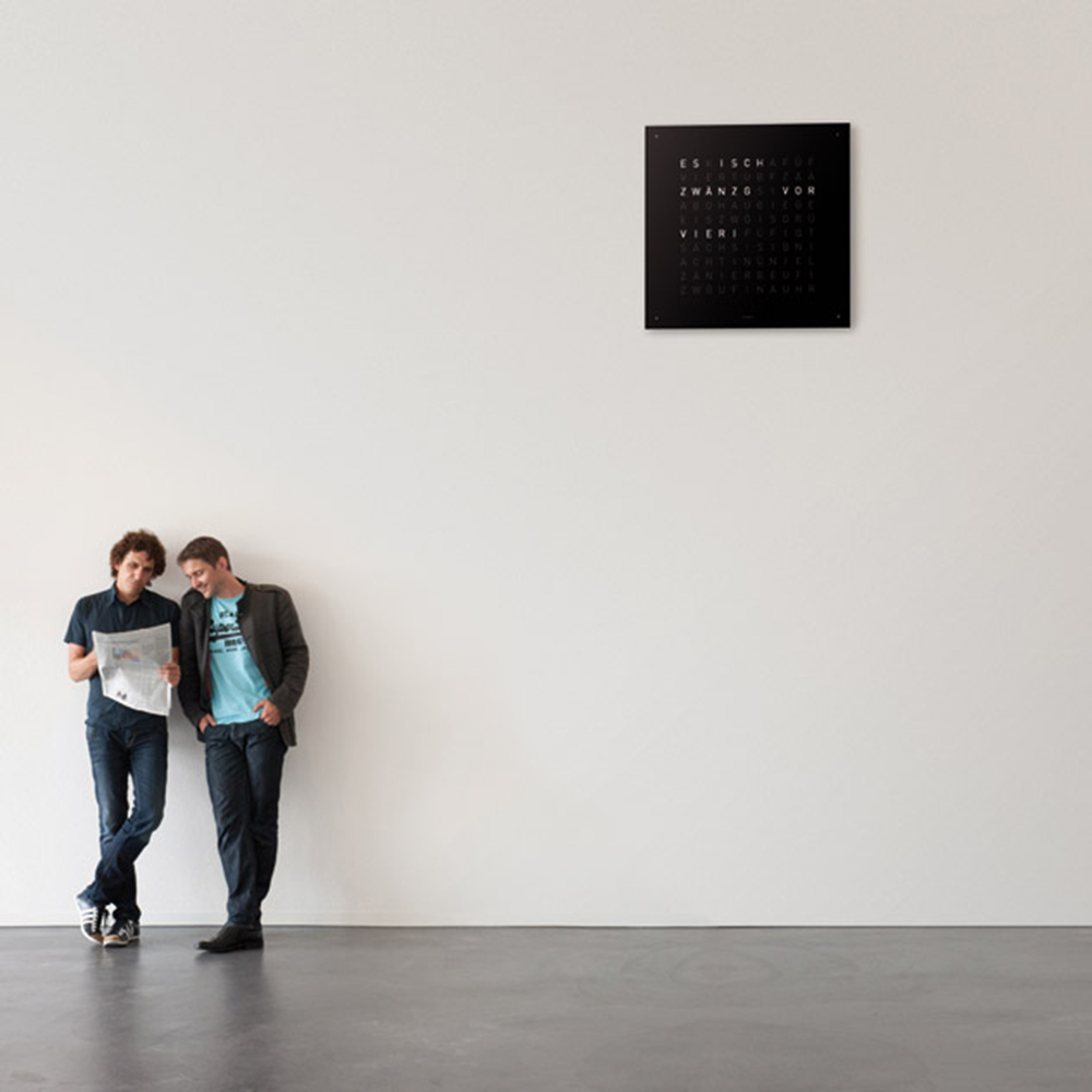 Qlocktwo Large wall clock designed by Biegert & Funk