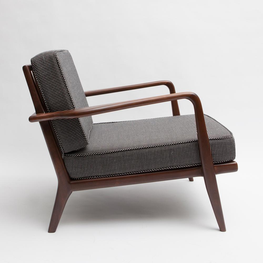 Mel Smilow Rail Back Armchair midcentury modern wooden furniture