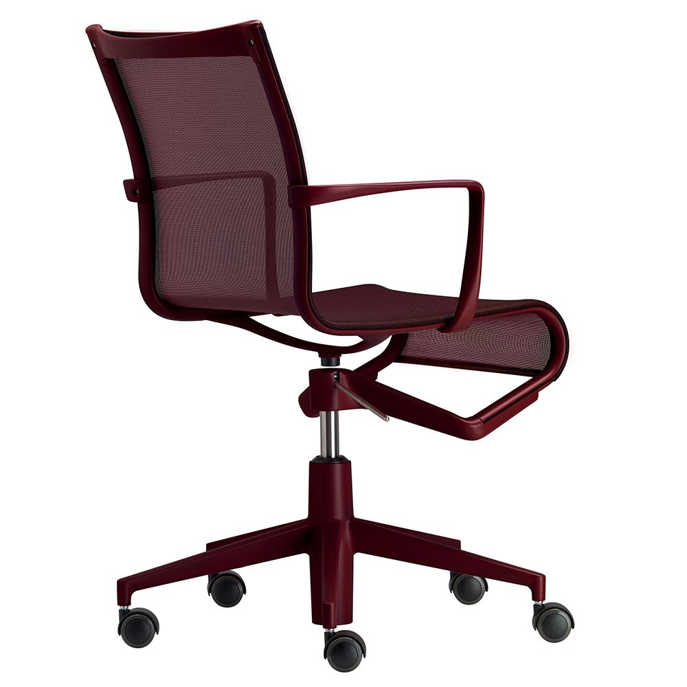 Rollingframe chair rolling frame Alberto Meda Alias red