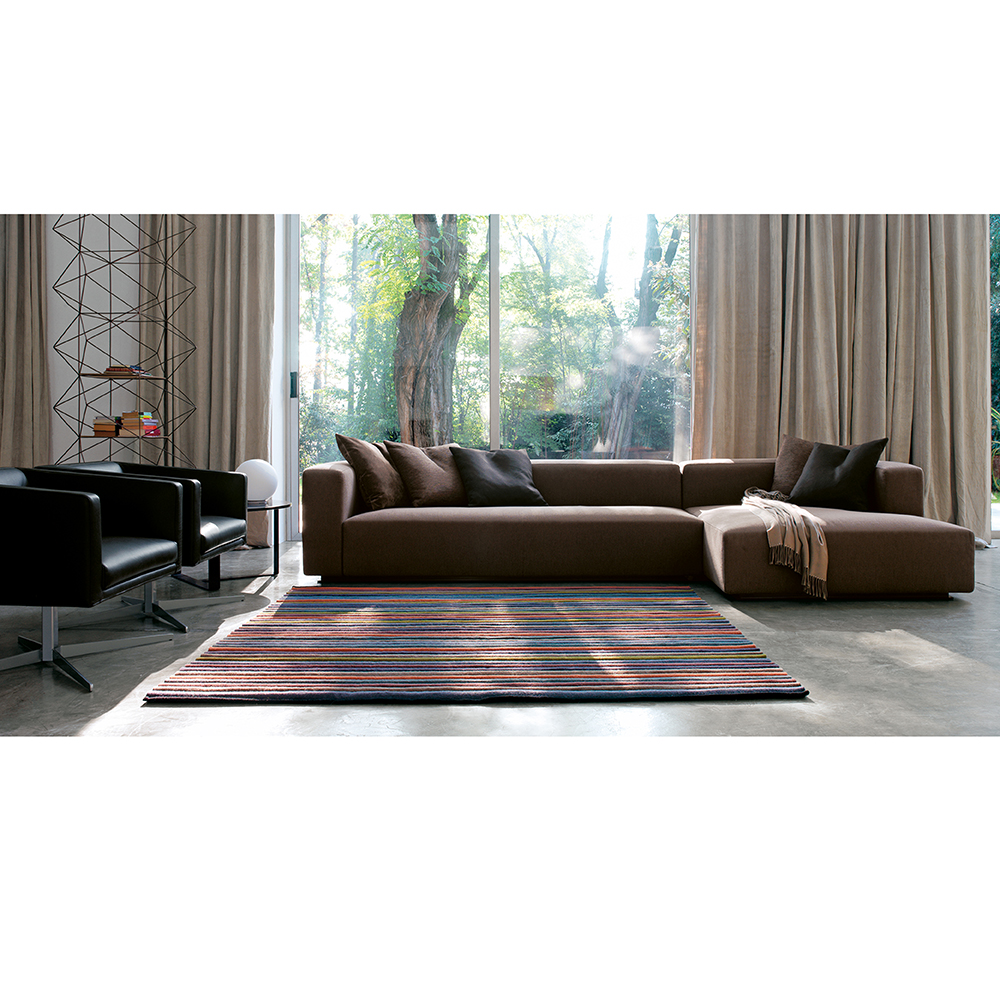 rubik brown modern sofa Verzelloni SUITE NY contemporary couch sectional