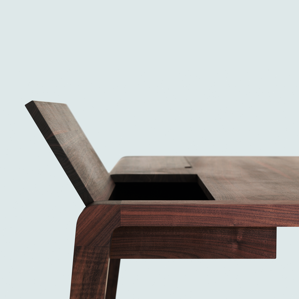 Secret desk designed by Markus Schmidt for Zeitraum
