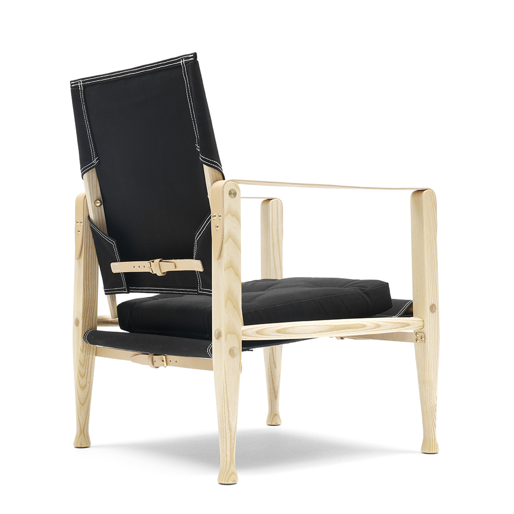 Kaare Klint Safari Chair designed by Kaare Klint, manufactured by Carl Hansen & Son
