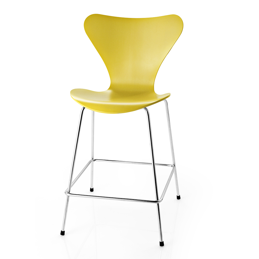 Series 7 stool designed by Arne Jacobsen for Fritz Hansen