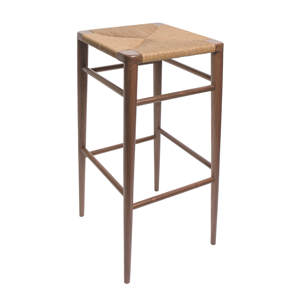 Woven Rush Stool Mel Smilow modern barstool and counter stool