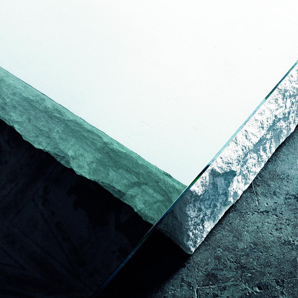 Terraliquida table designed by Claudio Silvestrin for Glas Italia