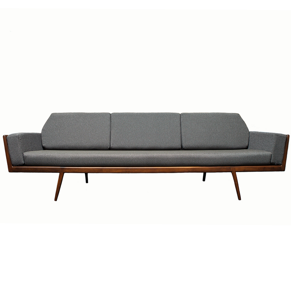 Rail Back Sofa Mel Smilow Furniture midcentury modern design
