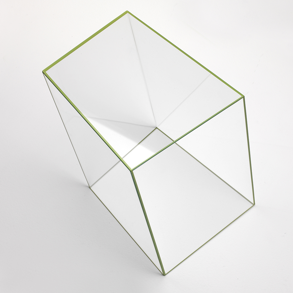 Wireframe occasional table collection designed by Piero Lissoni for Glas Italia.